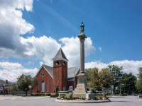 Monument Circle, historic district, Warsaw NY