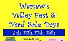 Warsaw's Valley Fest & Yard Sale Days   July 13th, 14th and 15th